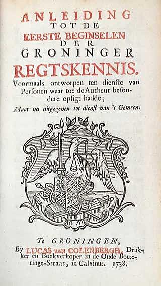 GRONINGEN -- (LAMAN, P.). Anleiding tot de eerste beginselen der Groninger