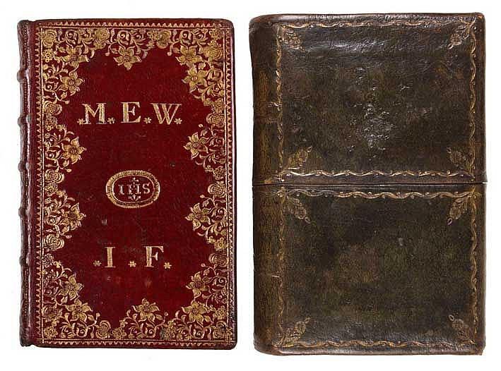 BOOK OF HOURS -- HEURES ROYALES, dédiées a la Reine; contenant les Offices
