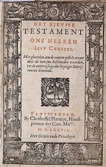 BIBLES -- BIBLIA NEERLANDICA -- NIEUWE TESTAMENT ONS HEEREN IESU CHRISTI, H