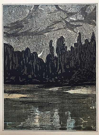 HOYTEMA, Theodoor ('Theo') v. (1873-1917). 'Tureluur boven bloeiend veld' -