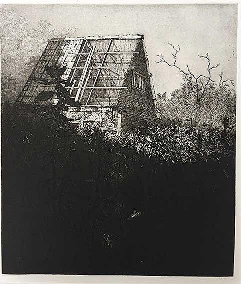 HOMAN, Reinder (1950). 'De natuur herneemt'. 1981. Etching and drypoint. 34