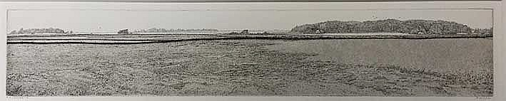 HOMAN, Reinder (1950). Landscape. 2003. Etching. 95 x 536 mm. Signed in pen