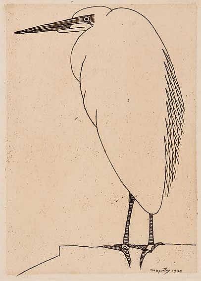 JESSURUN de MESQUITA, Samuel (1868-1944). 'Reiger' (snavel naar links). 192