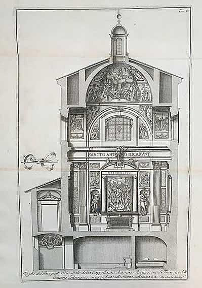 ARCHITECTURE -- (GORI, A.F.). Descrizione della cappella di S. Antonino ves