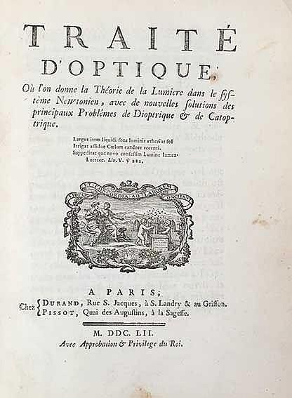 OPTICS -- (COURTIVRON, G. Le Compasseur de Créquy-Montfort, marquis de). Tr