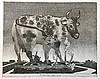 BERSERIK, Hermanus ('Herman') (1921-2002). 'De koe van Cara'. 1976. Etching, Herman Berserik, €45
