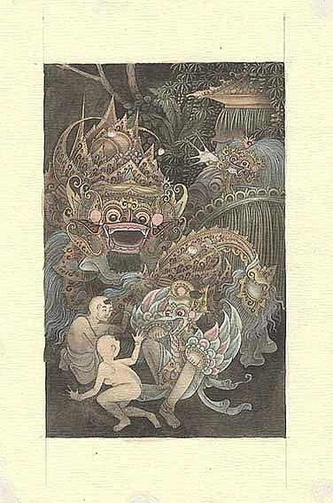 BALI -- SEDEN-MANDRA. Four Keliki miniatures. Keliki Kawan, Payangan, Giany