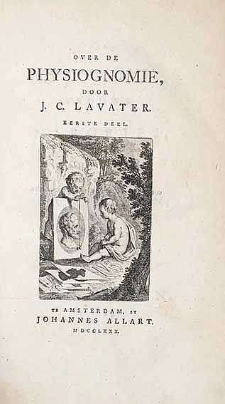 PHYSIOGNOMY -- LAVATER, J.C. Over de physiognomie. Amst., Allart, 1780-83.