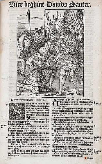 BIBLES -- BIBLIA NEERLANDICA -- BIBEL, DEN GHEHEELEN, inhoude[n]de het oude