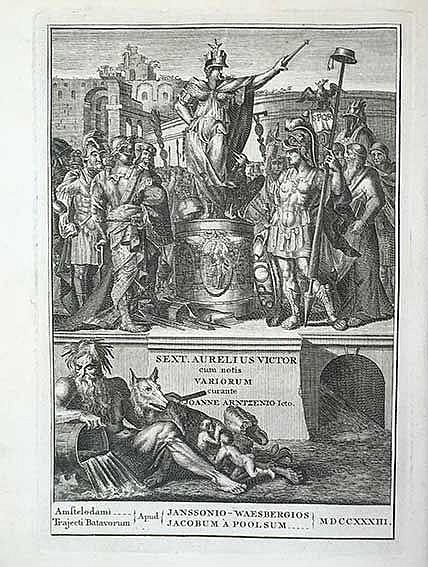 LEEUWARDEN -- AURELIUS VICTOR. Historia Romana. Cum notis (var.). Cur. J. A