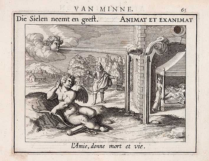 EMBLEM BOOKS -- (HOOFT, P.C.). Emblemata amatoria. Afbeeldinghen van minne.