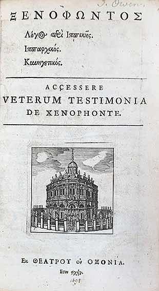 XENOPHON. Logos peri Hippikês, Hipparchikos, Kynêgetikos. Accessere veterum