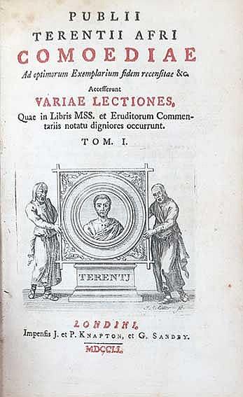 TERENTIUS. Comoediae. Ad optimum exemplarium fidem rec. &c.; Acces. variae l