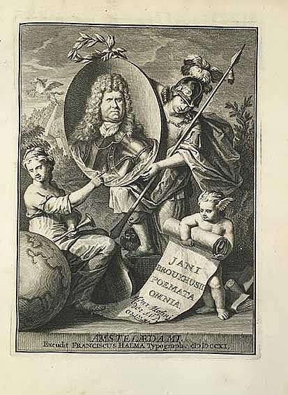 BROUKHUSIUS, J. Poematum ll. XVI. Ed. D. Hoogstratano. Amst., F. Halma, 171