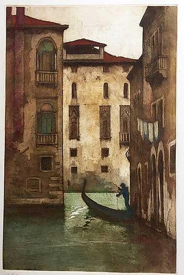 LÜCKER, Eugène Joseph Frans ('Eugène') (1876-1943). 'Rio Lia, Venetië'. (19