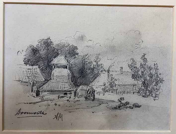 MAUVE, Anthonij ('Anton') (1838-1888). 'Doorwerth'. View on Doorwerth, draw