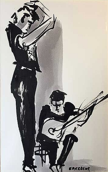ERKELENS, Henk (1937-2011). Fiesta Gitana, 15 nov. 1960, La Haya. 7 origina