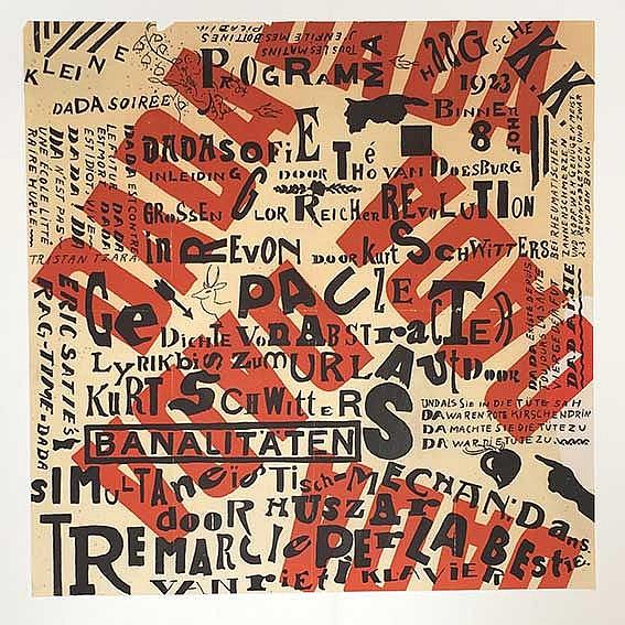 DADA -- (DOESBURG, Th. v. & K. SCHWITTERS). 'Programma Kleine Dada Soirée'.