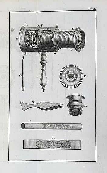BAKER, H. Het microscoop gemakkelyk gemaakt of beschryving van de Beste en