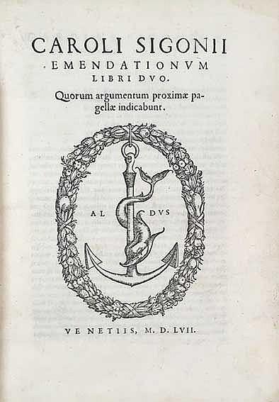 SIGONIUS, C. Emendationum libri duo. Quorum argumentum proximæ pagellæ indi