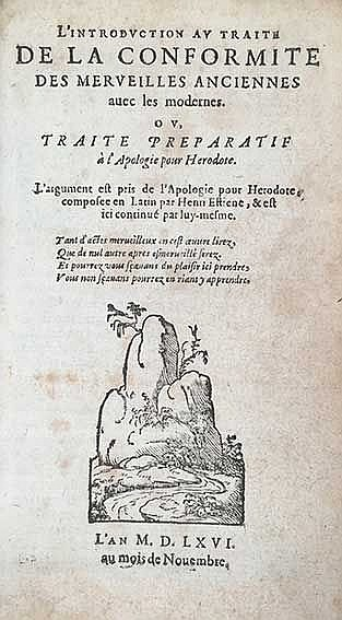 ESTIENNE (Stephanus), H. L'introduction au traite de la conformite des merv