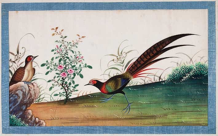 CHINA -- RICE PAPER PITH PAINTINGS --