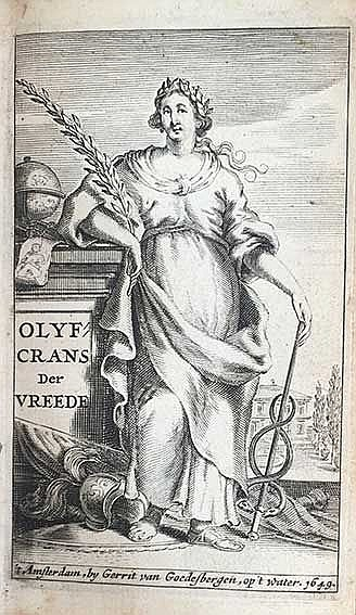 OLYF-KRANS der vreede, door de doorluchtigste geesten, en geleerdste mannen