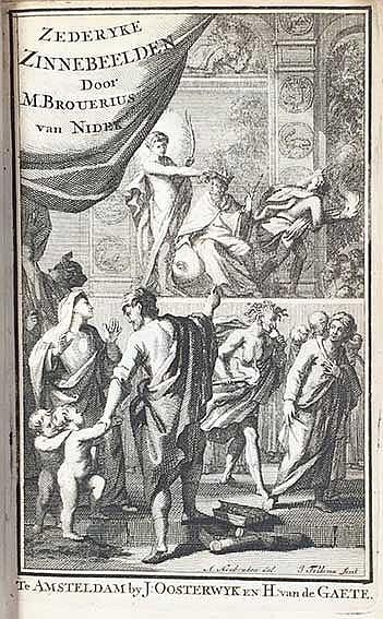 EMBLEM BOOKS -- BROUËRIUS v. NIDEK, M. Zederyke zinnebeelden der tonge. Ams