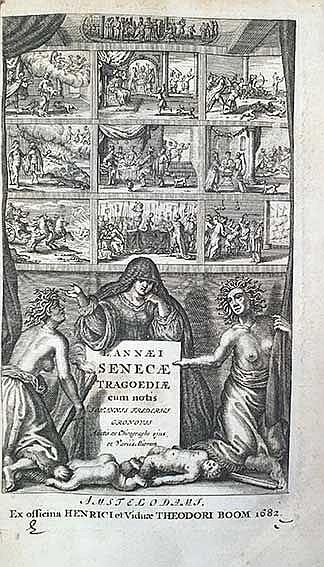 SENECA. Tragoediae. Cum notis J.F. Gronovius. Amst., H. & Vid. Th. Boom, 16