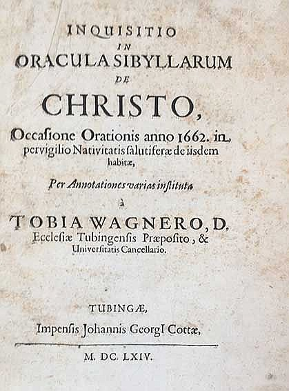 SIBYLLINA ORACULA -- WAGNER, T. Inquisitio in oracula Sibyllarum de Christo