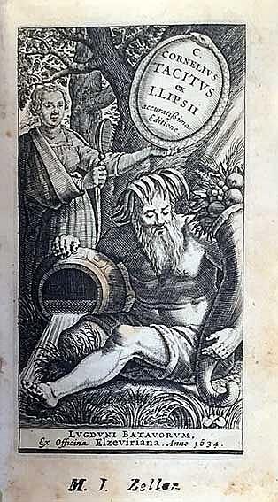 TACITUS. (Opera) ex I. Lipsii accur. editione. Leyden, Elzevier, 1634. (19)