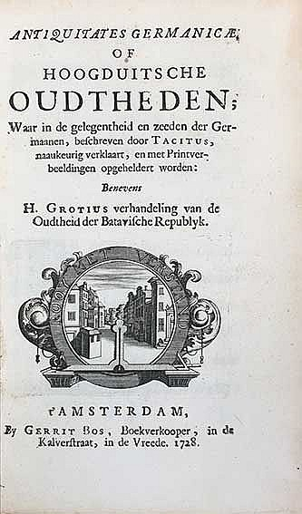 (BOS, G.). Antiquitates Germanicae, of Hoogduitsche Oudtheden; (...) Beneve