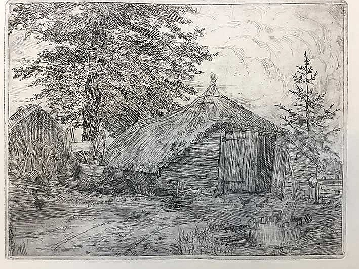 OOSTVEEN, Frederik Amalius v. (1885-1979). Collection of 8 etchings. (Proof