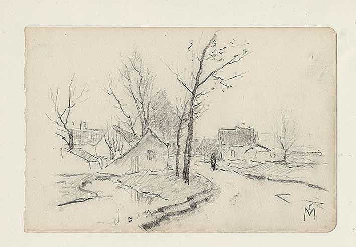 MONDRIAAN, Frits (1853-1932). Collection of 20 sketches of rural landscapes