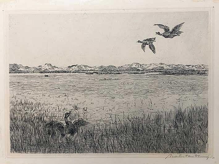 WANING, Gijsbertus M.W.F. ('Martin') (1889-1972). View on Schiermonnikoog,