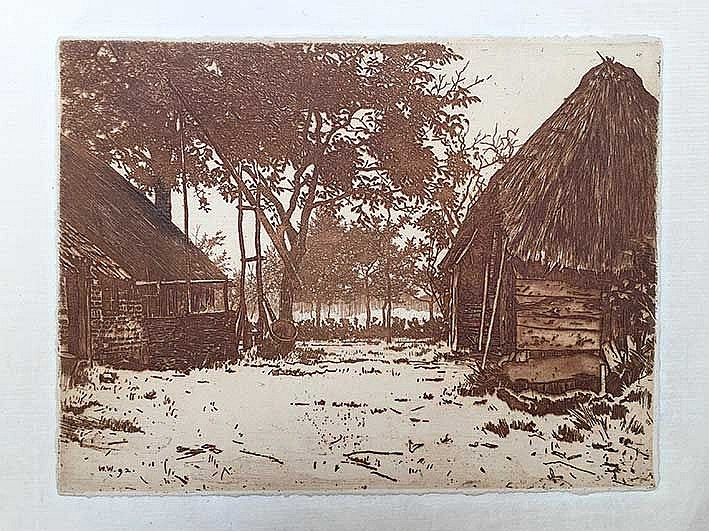 WITSEN, Willem Arnold ('Willem') (1860-1923). 'Boerenerf' or 'De groote boe