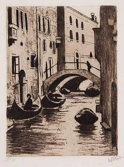 WITSEN, Willem Arnold ('Willem') (1860-1923). 'Brugje over de Rio di San To