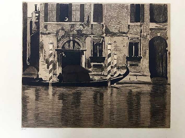 WITSEN, Willem Arnold ('Willem'). (1860-1923). Gondel met opbouw in het Can