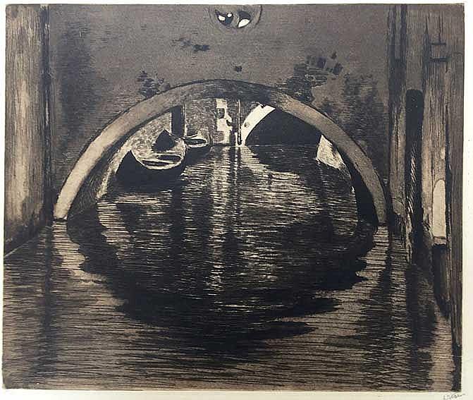 WITSEN, Willem Arnold ('Willem') (1860-1923). 'Onder de brug, Venetië'. c.