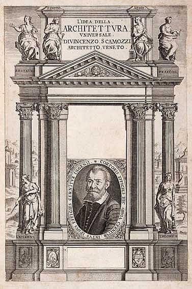 ARCHITECTURE -- SCAMOZZI, V. Œuvres d'architecture, contenuës dans son idée