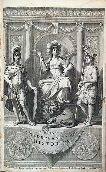 HOOFT, P.C. Nederlandsche historien. Met het Vervolgh. 3e dr. Amst., J. v.