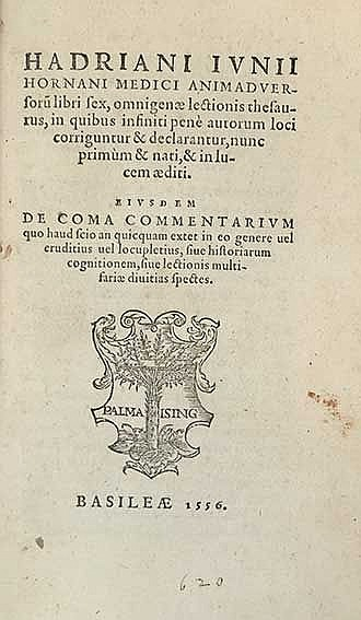 JUNIUS, H. Animadversorum libri sex, omnigenæ lectionis thesauris, in quibu