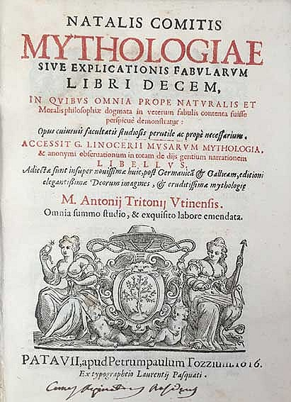 CONTI, N. Mythologiae sive explicationis fabularum libri decem, (…) Accessi