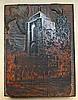 GELDER, Dirk van (1907-1990). 'Veere'. 1952. Original block of a wood-engra, Dirk
