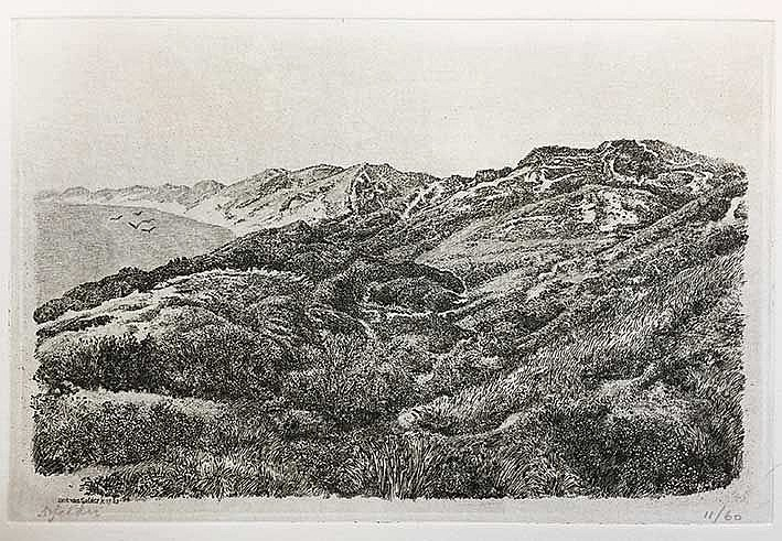 GELDER, Dirk van (1907-1990). 'Duinlandschap, 1983-84' (Walcheren). Etching
