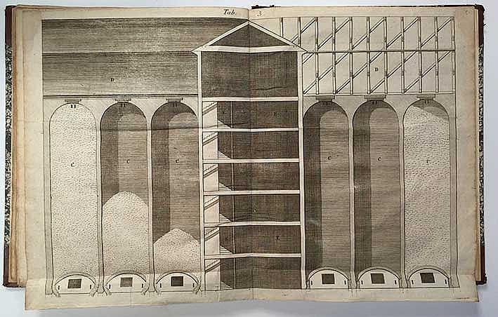 FAGGOT, J. Förbättring på kornhus byggnad uti kopparstycken förestald. Stoc