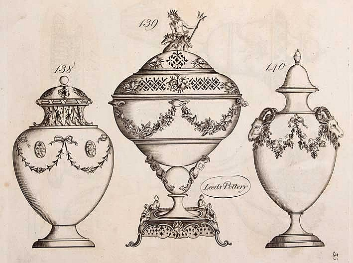 CERAMICS -- (PATTERN BOOK OF LEEDS POTTERY). (Leeds, no date but about 1814