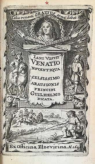 POETAE VENATICI -- VLITIUS, J. (J. V. Vliet). Venatio novantiqua. Ex off. E