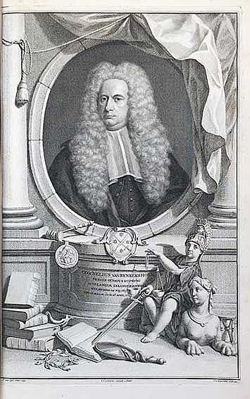 BYNKERSHOEK, C. v. Opera omnia. Leyden, S. & J. Luchtmans, 1767. 2 in 1 vol