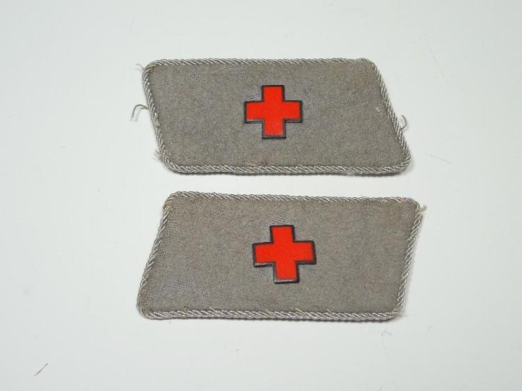 Nazi German WWII Medical Corps Collar Tabs